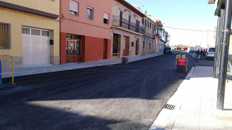 finalizado el asfaltado de la calle diputaci n san