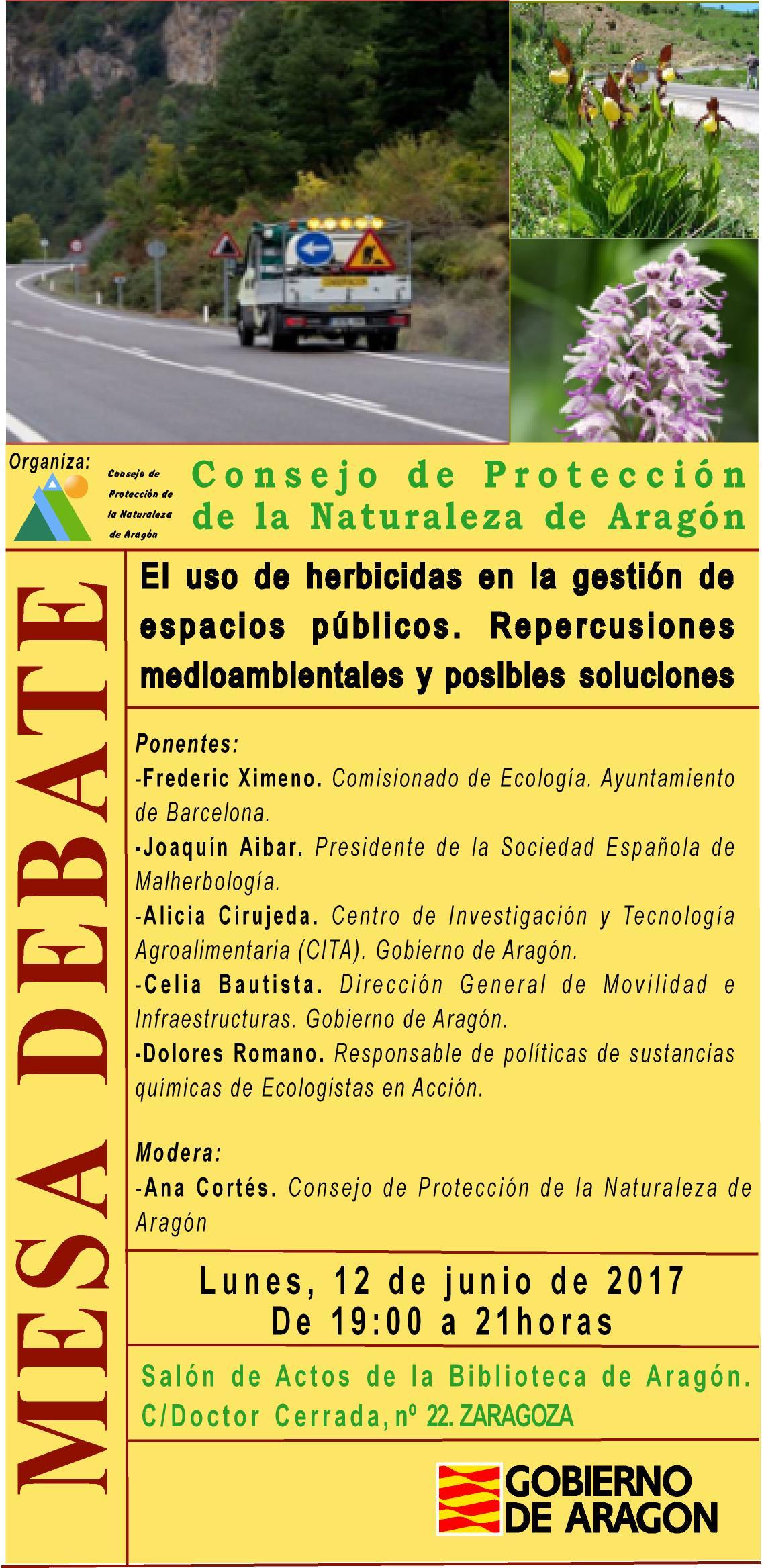 Mesa debate en zaragoza uso de herbicidas en la gesti n - Gestion de espacios ...
