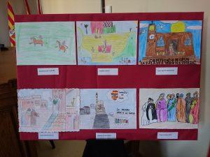 Dibujos ganadores I Concurso Infantil Compromiso de Caspe 2017
