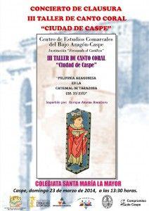 CARTEL TERCER TALLER CANTO CORAL