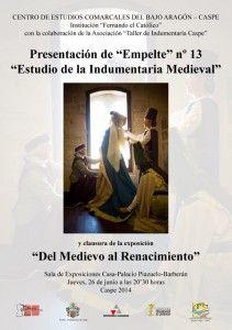 cartel_Estudio de la Indumentaria Medieval