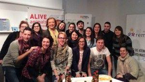 La Presidenta del Gobierno de Aragón con jóvenes dinamizadores Rurales
