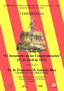 CARTEL CONFERENCIA FRANCISCO M GIMENO BLAY