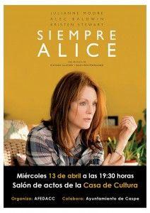 AFEDACC - Proyección película Siempre Alice