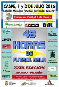 Cartel 48 horas Fútbol Sala