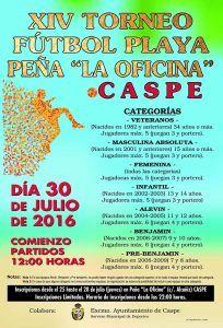 Cartel futbol-Playa 16