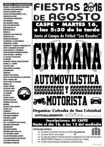 Cartel Gimkana Fiestas