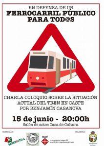 Charla Ferrocarril Zaragoza-Barcelona