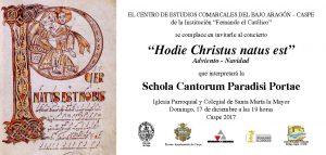 2017-12-17 INVITACIÓN CONCIERTO SCHOLA CANTORUM