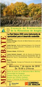 Cartel_mesa debate red natura 2000 y desarrollo sostenible