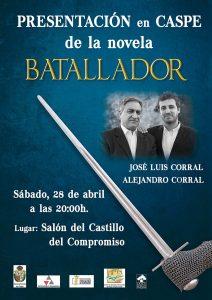 cartel presentación libro J.L. Corral