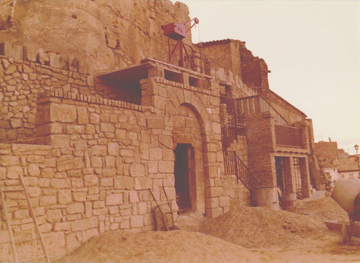Obras Castillo de Caspe 1978