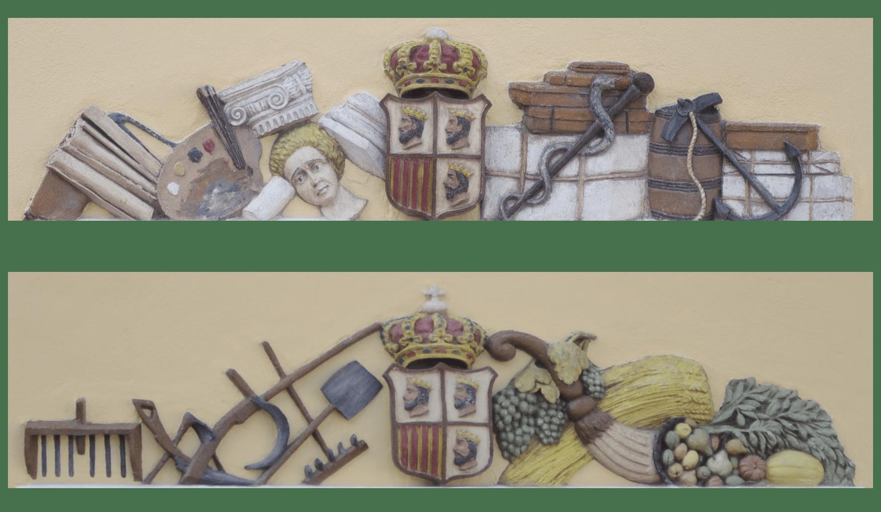 escudos alegorías